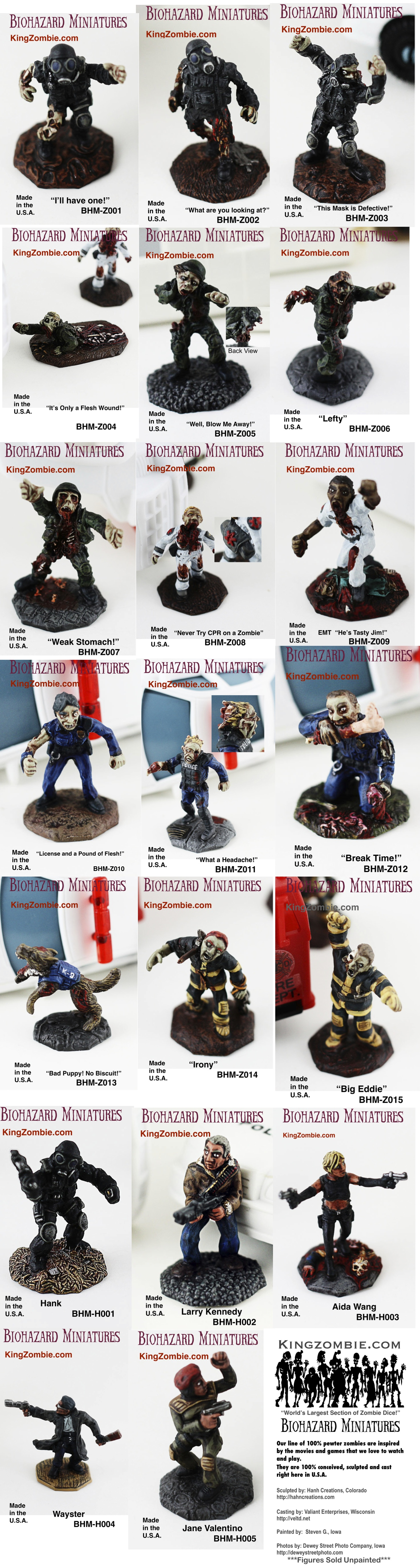 Set of 20 Zombies & Survivors Apocalypse+International Postage