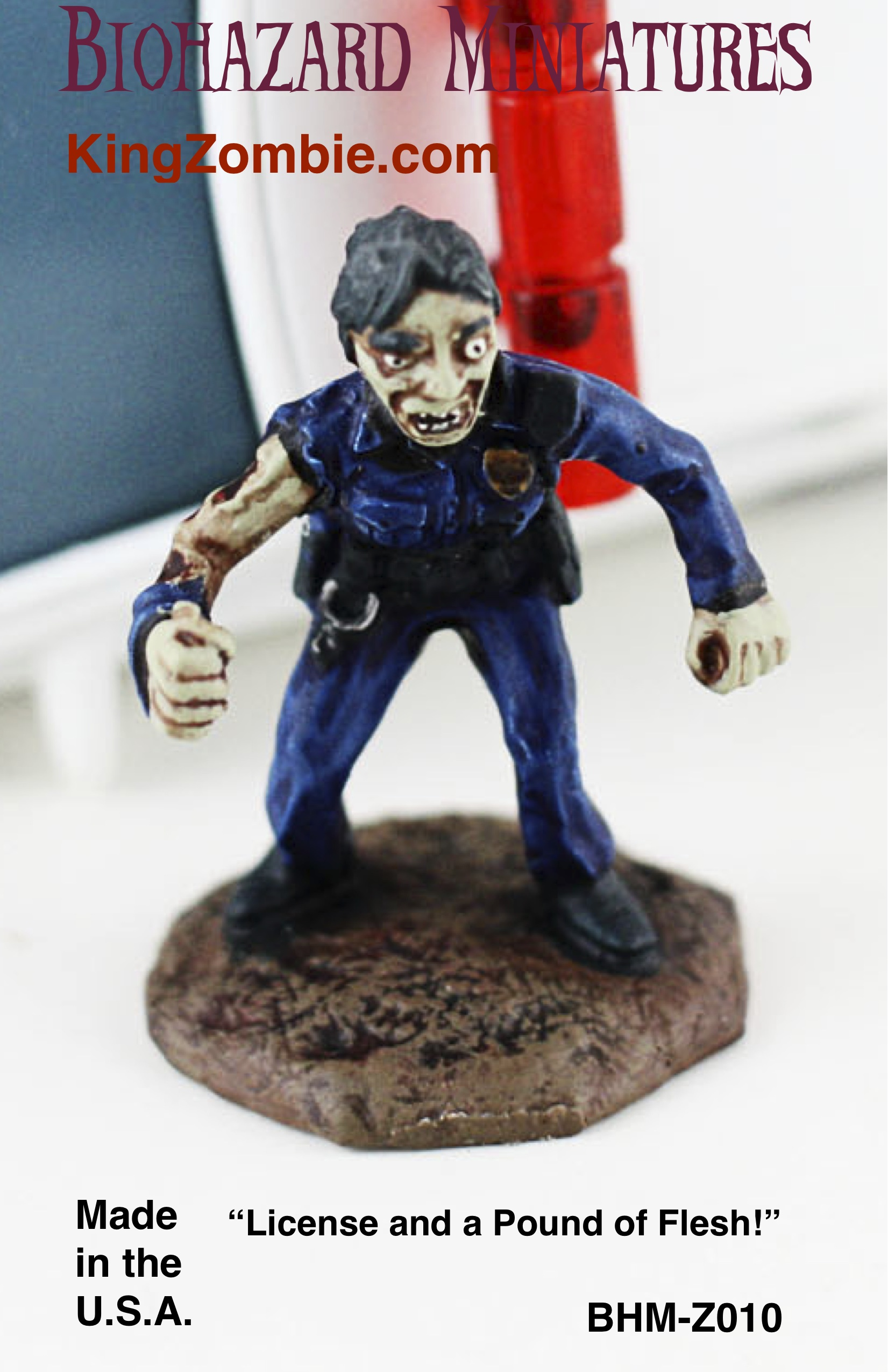 "Female Zombie COP ""Sir, license,... & a pound of flesh please"""