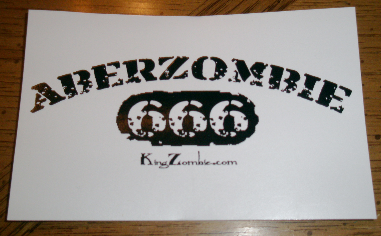 "Aberzombie 666 4.25"" x 2.75"" Stickers"