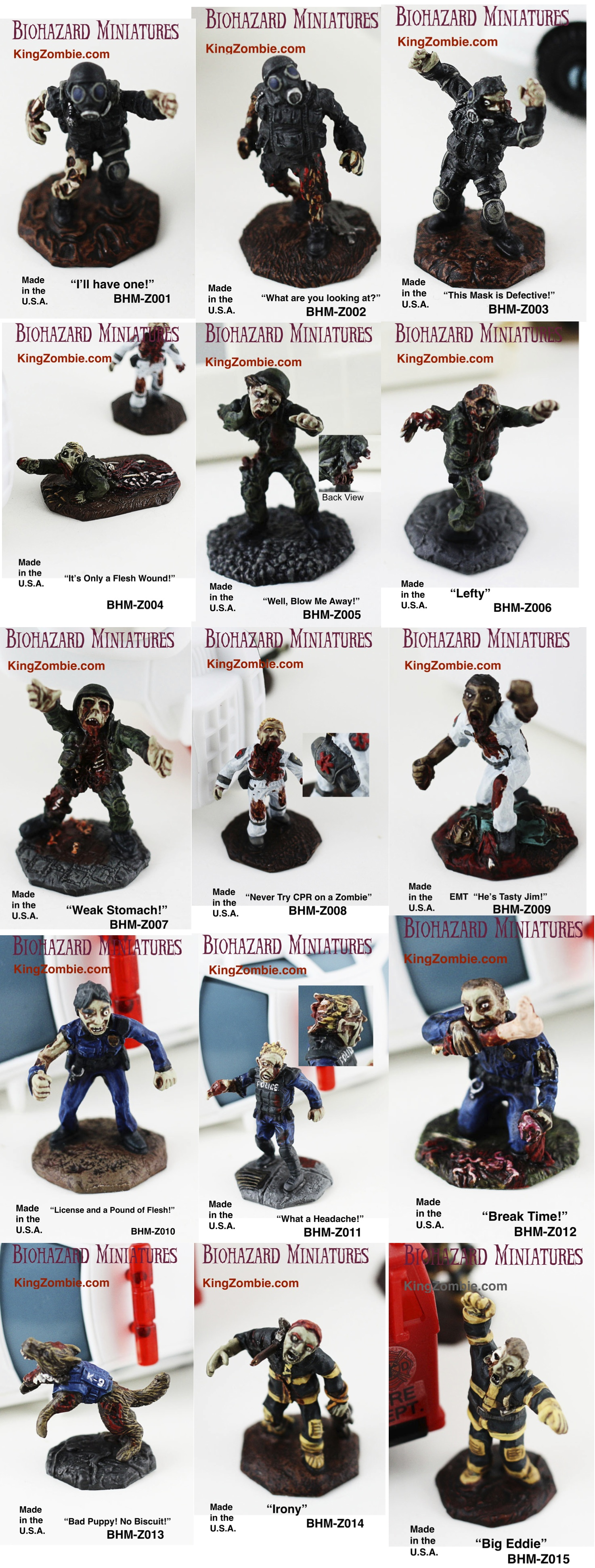28mm 1st Responder Zombies Set: Refrigerate