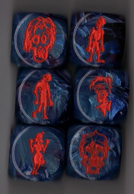 Critical Hit Zombie Dice, Set of 6!