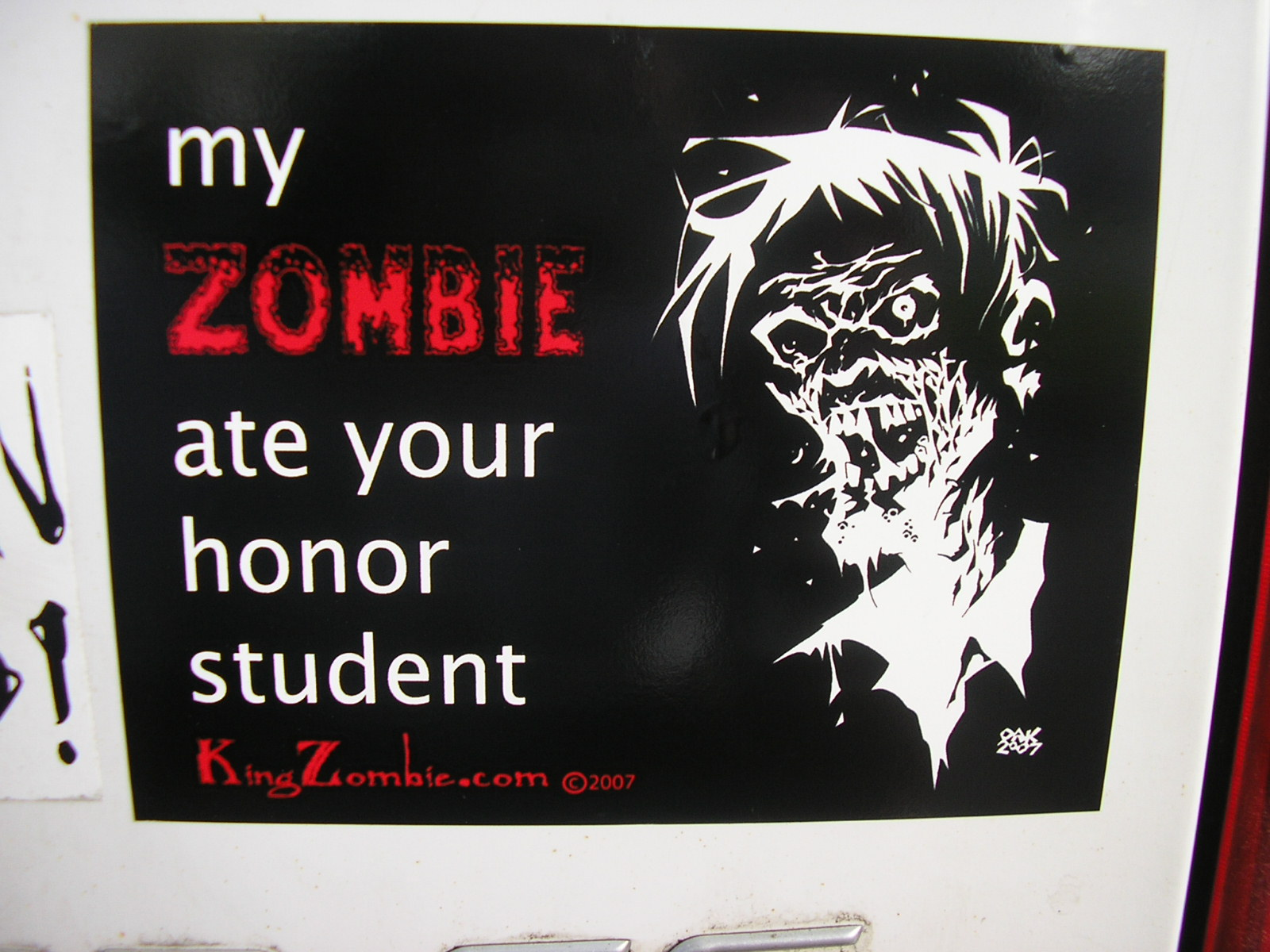 "My Zombie Ate Your Honor Student 5.5"" x 4.25"""