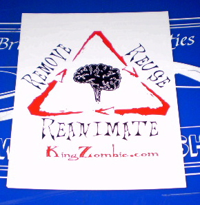 Zombie Remove Reuse Reanimate Recycling Sticker Office 5-Pack