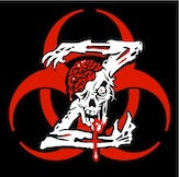 "Biohazard Zombie Z Sticker 4.25"" x 4.25"""