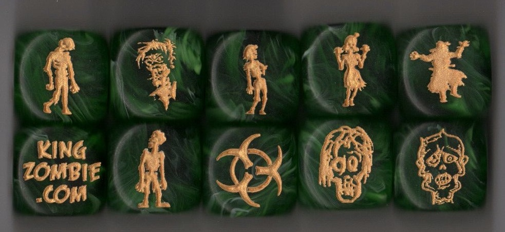 Set of 10 Zombie Dice
